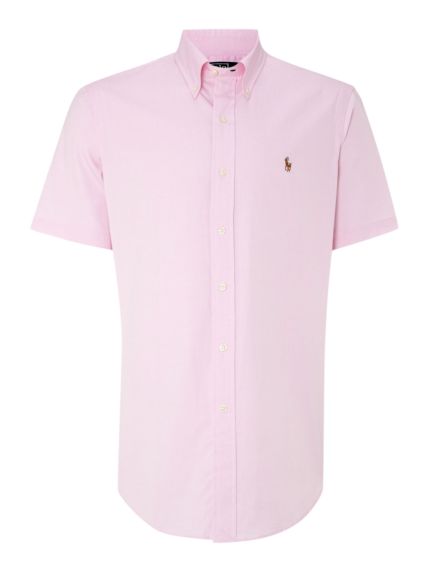 Classic short sleeve custom fit oxford shirt