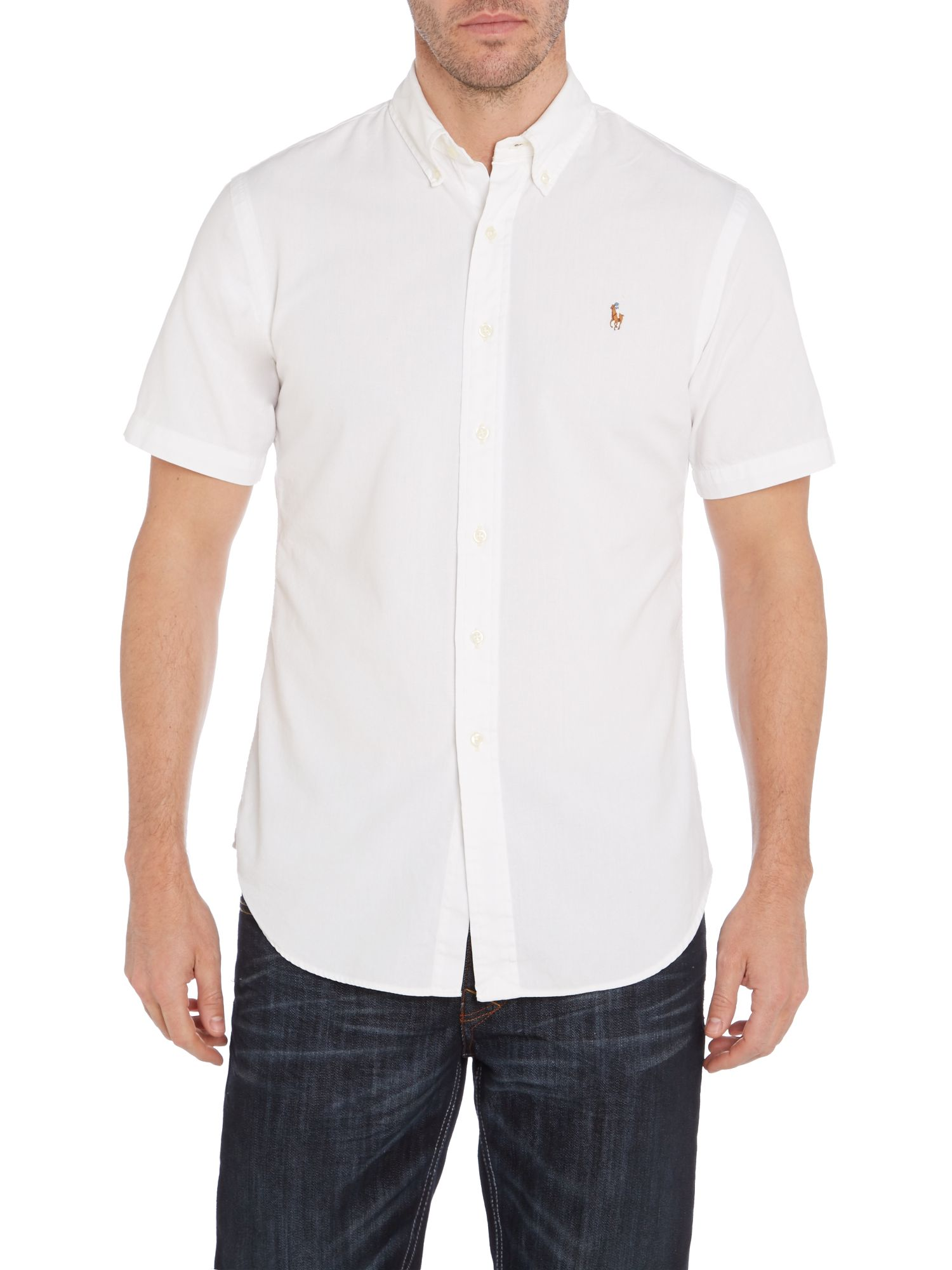 Classic short sleeve slim fit shirt