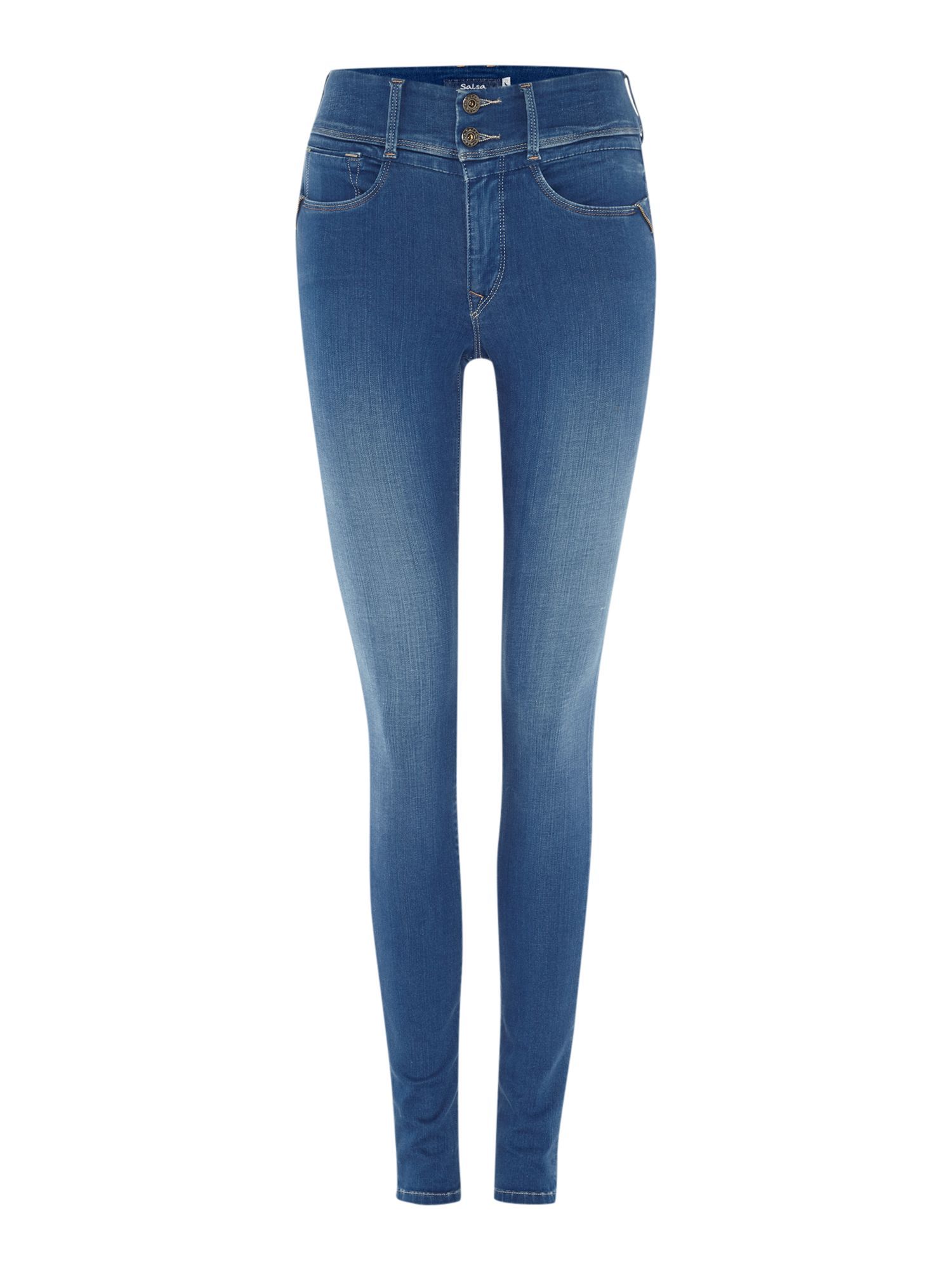 Secret Push-In skinny jeans with zip detail