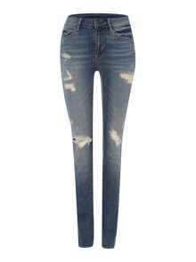 Oui Distressed denim jean
