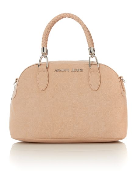 Armani Jeans Small neutral bowling bag