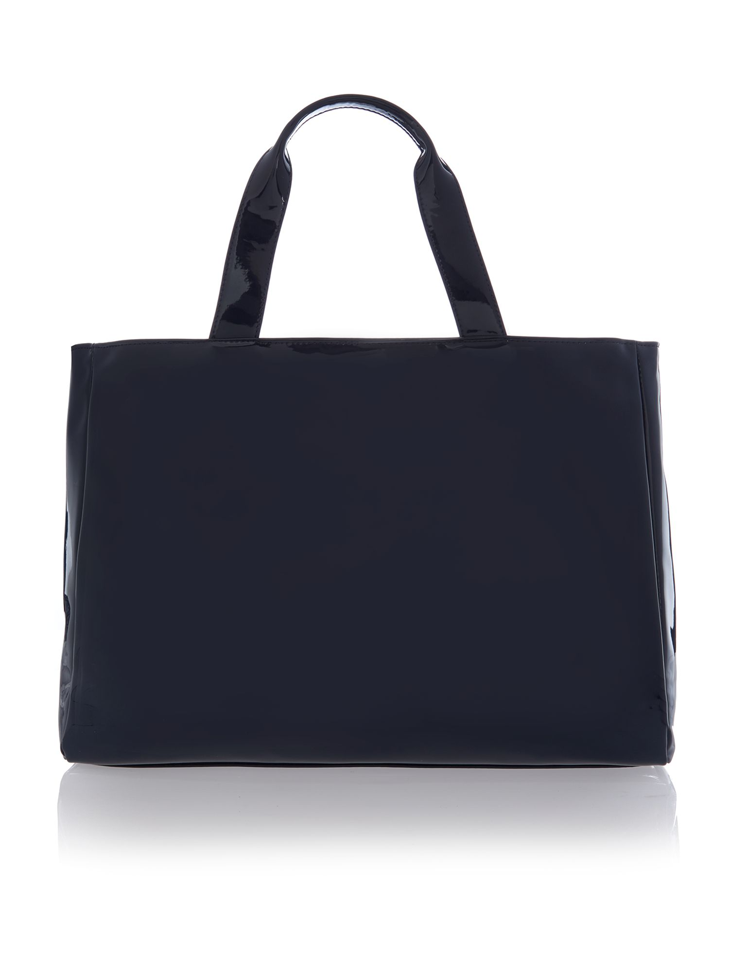 Medium navy reversible tote bag