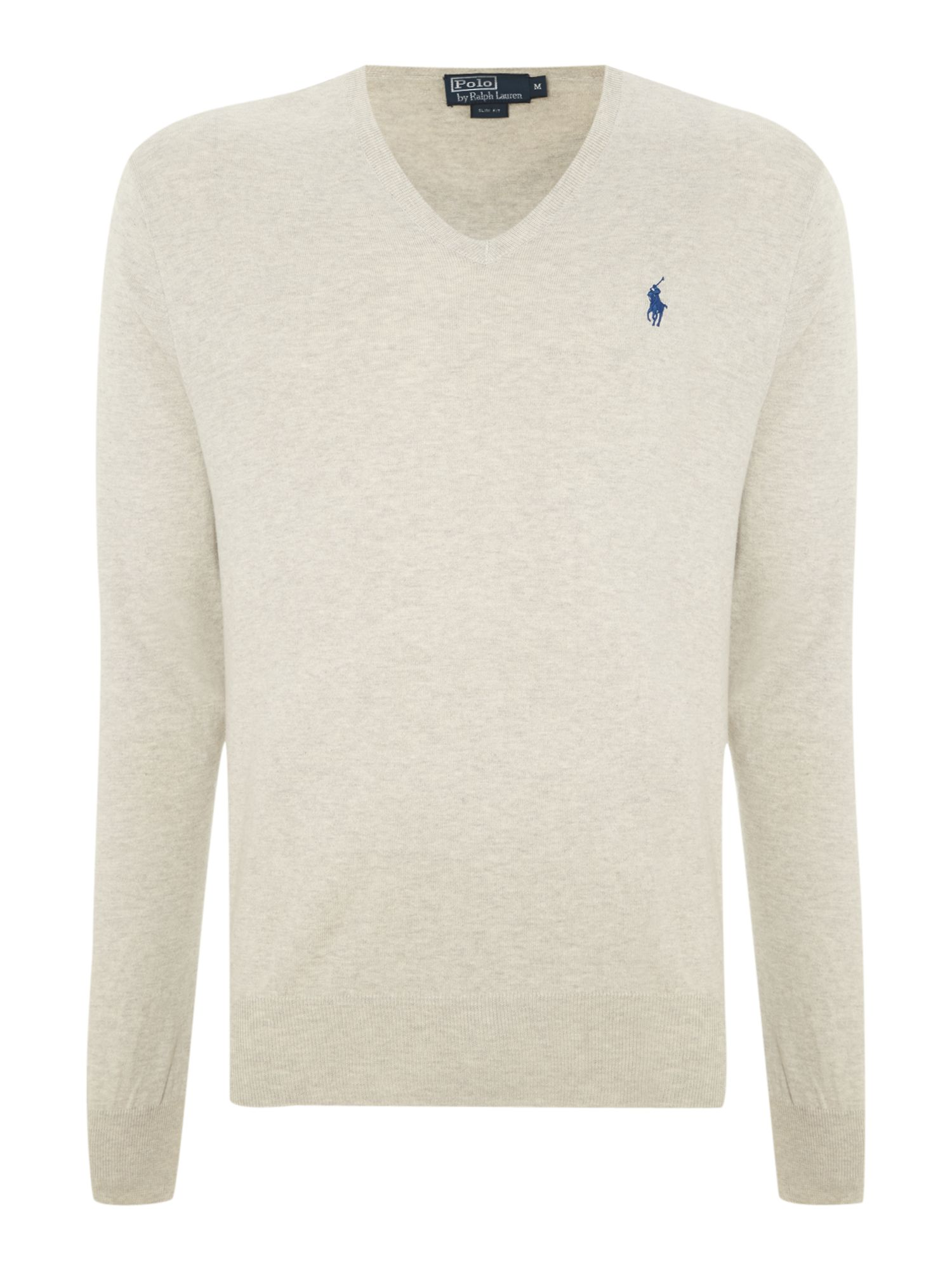 Classic v neck pima cotton jumper