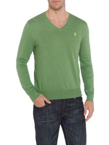 Polo Ralph Lauren Classic v neck pima cotton jumper