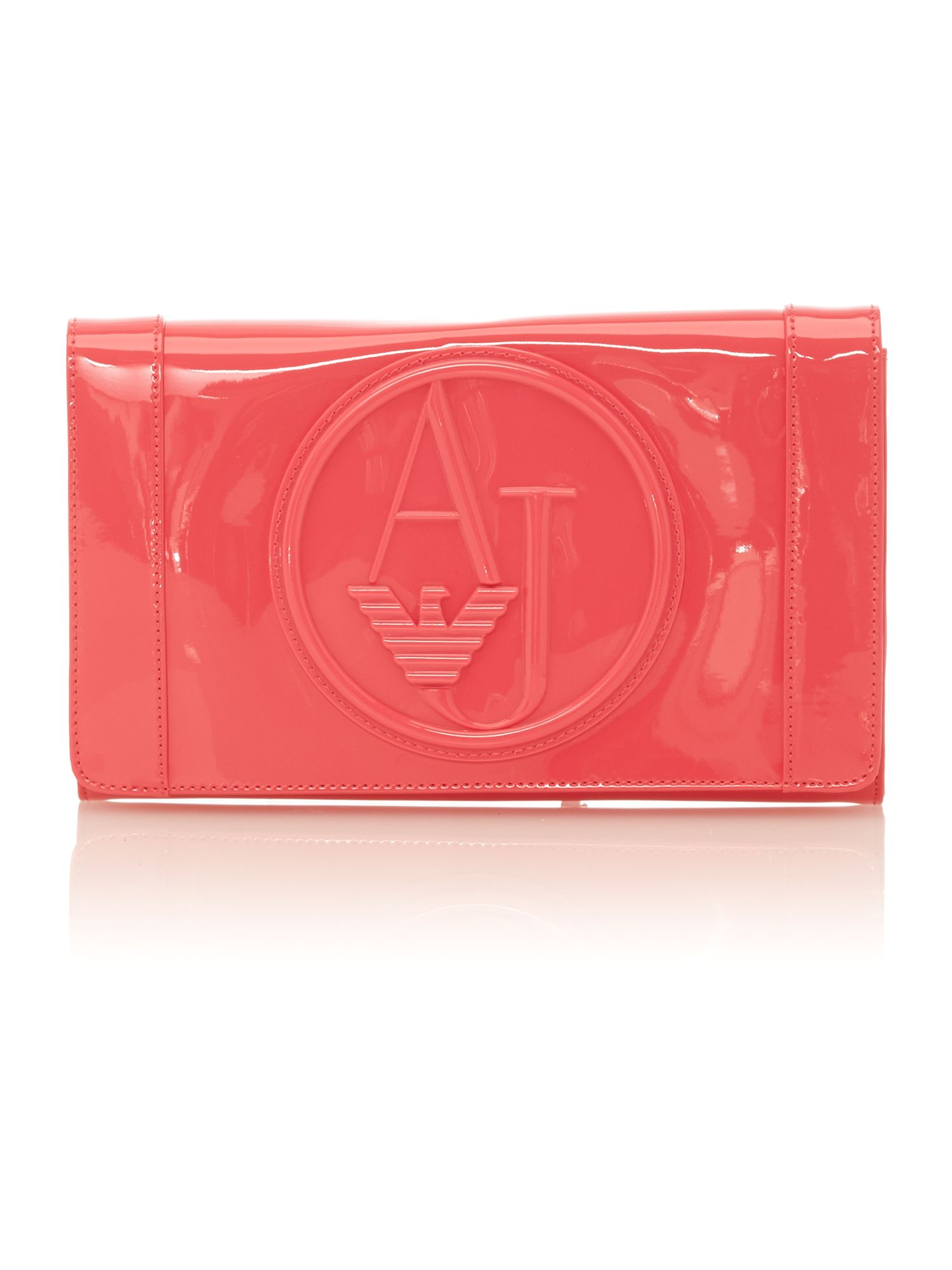 Pink patent small cross body bag