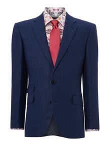 New & Lingwood Newland ticket pocket linen suit jacket
