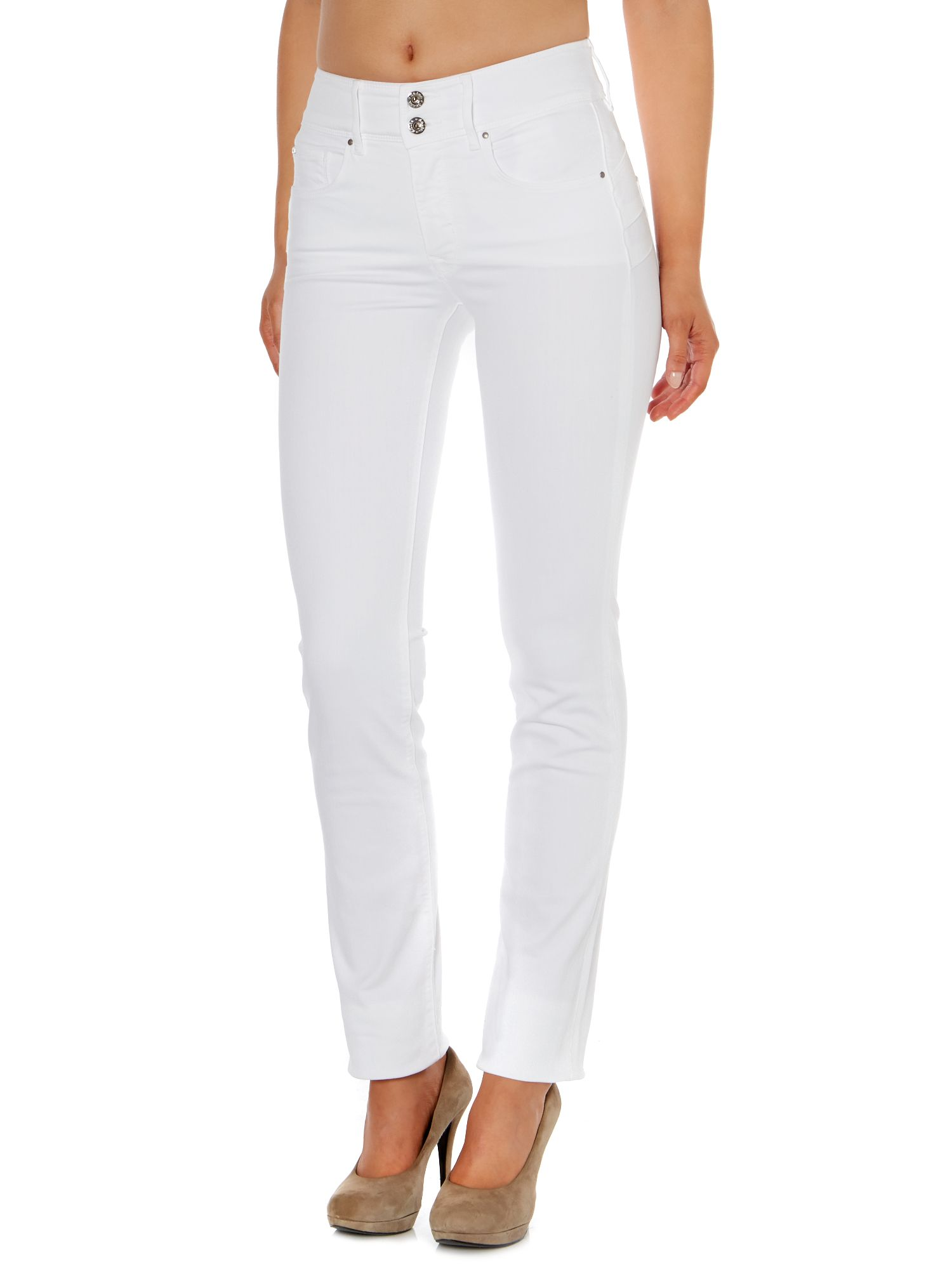 Secret Push-In slim leg jeans in White