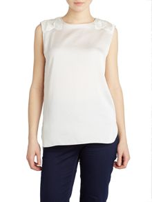 Sleeveless top with shoulder detail