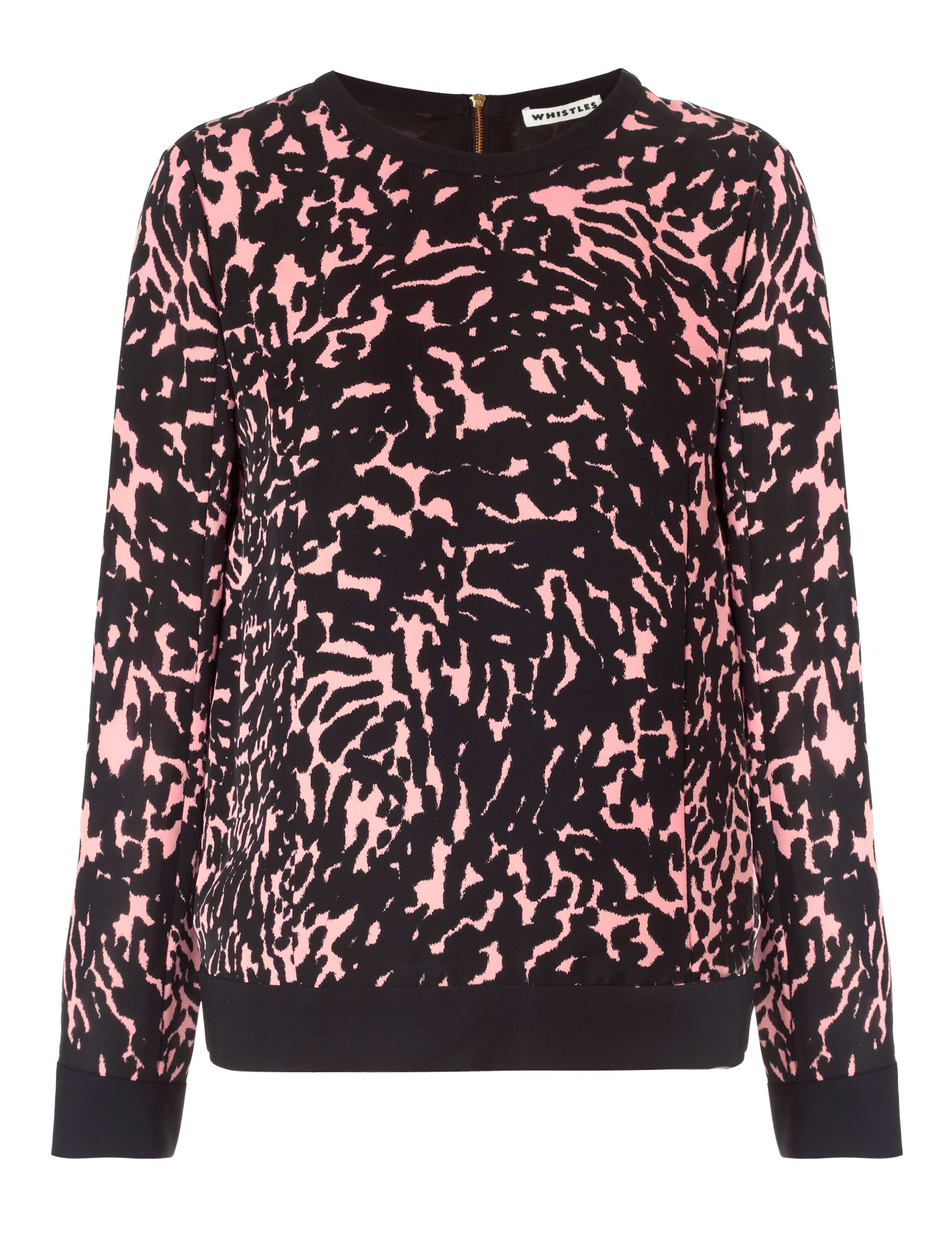 Smudged spot silk sweatshirt