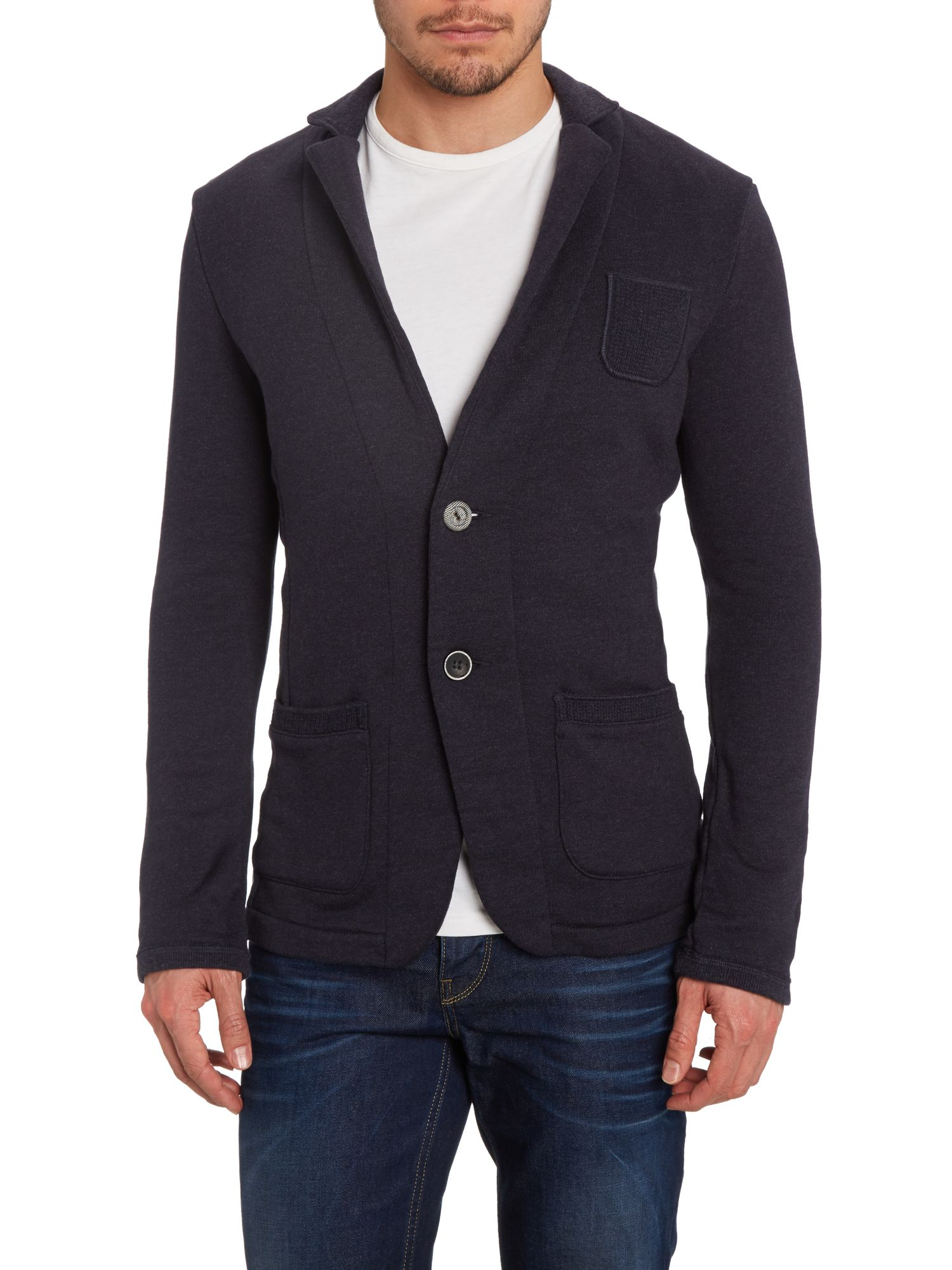 Three pocket jersey blazer