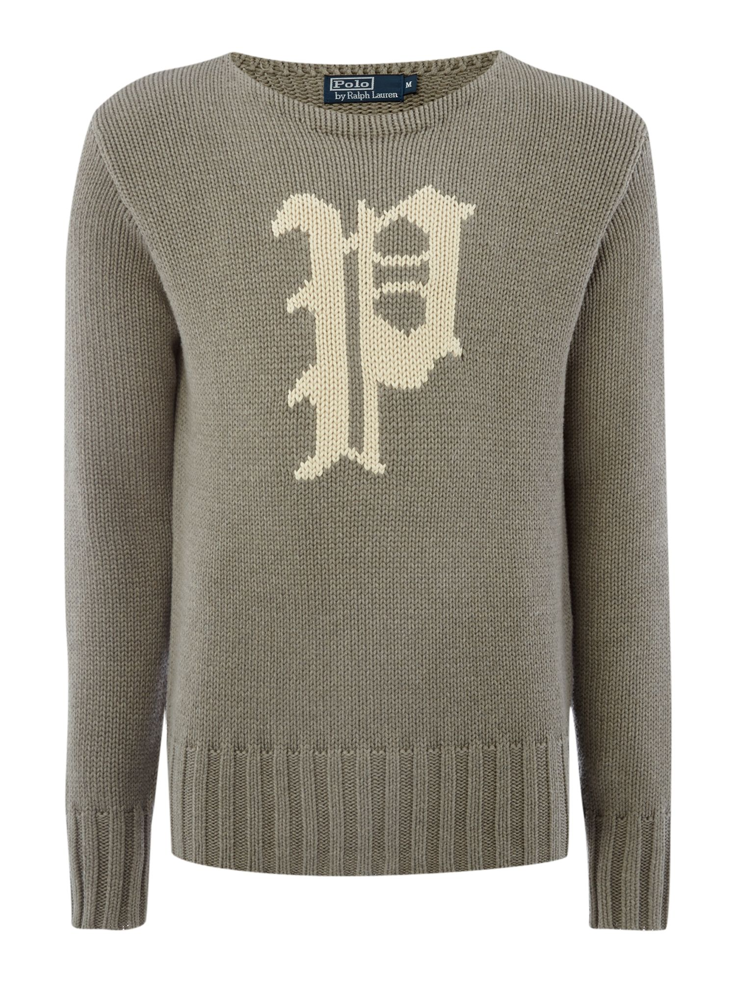 Heavy knit varsity crew neck jumper