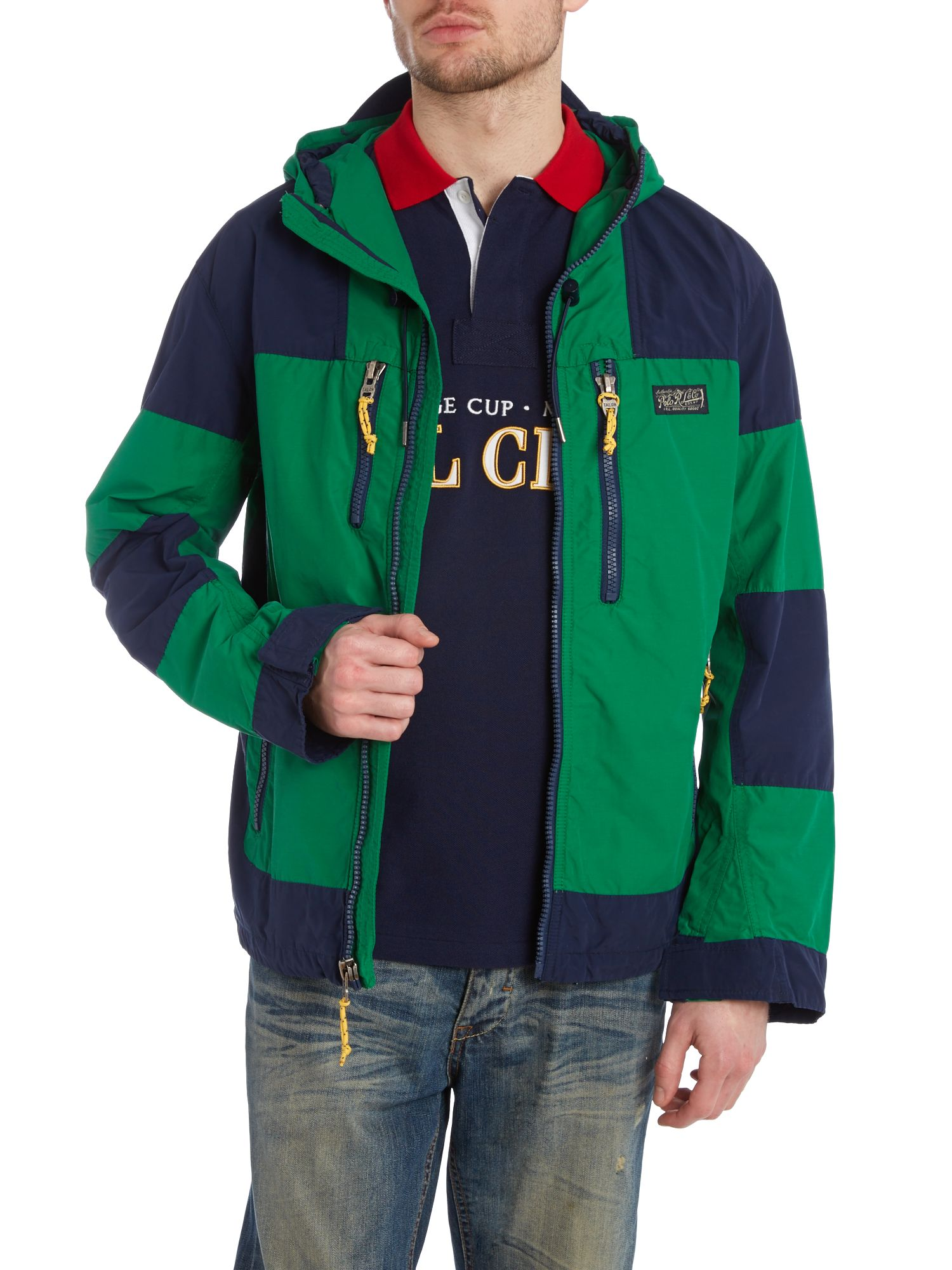 Block stripe mountain guardian padded jacket
