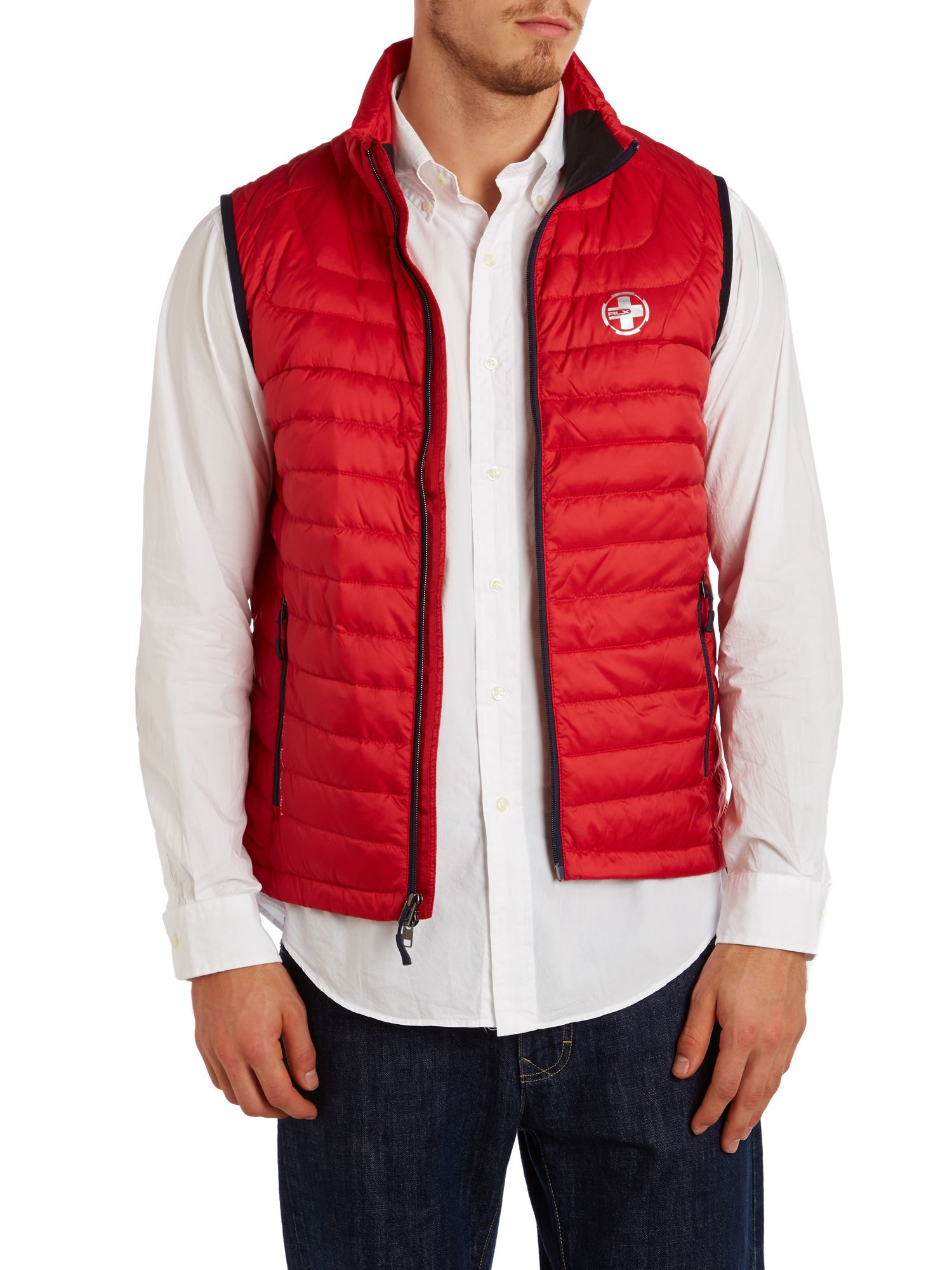Ether down padded gilet