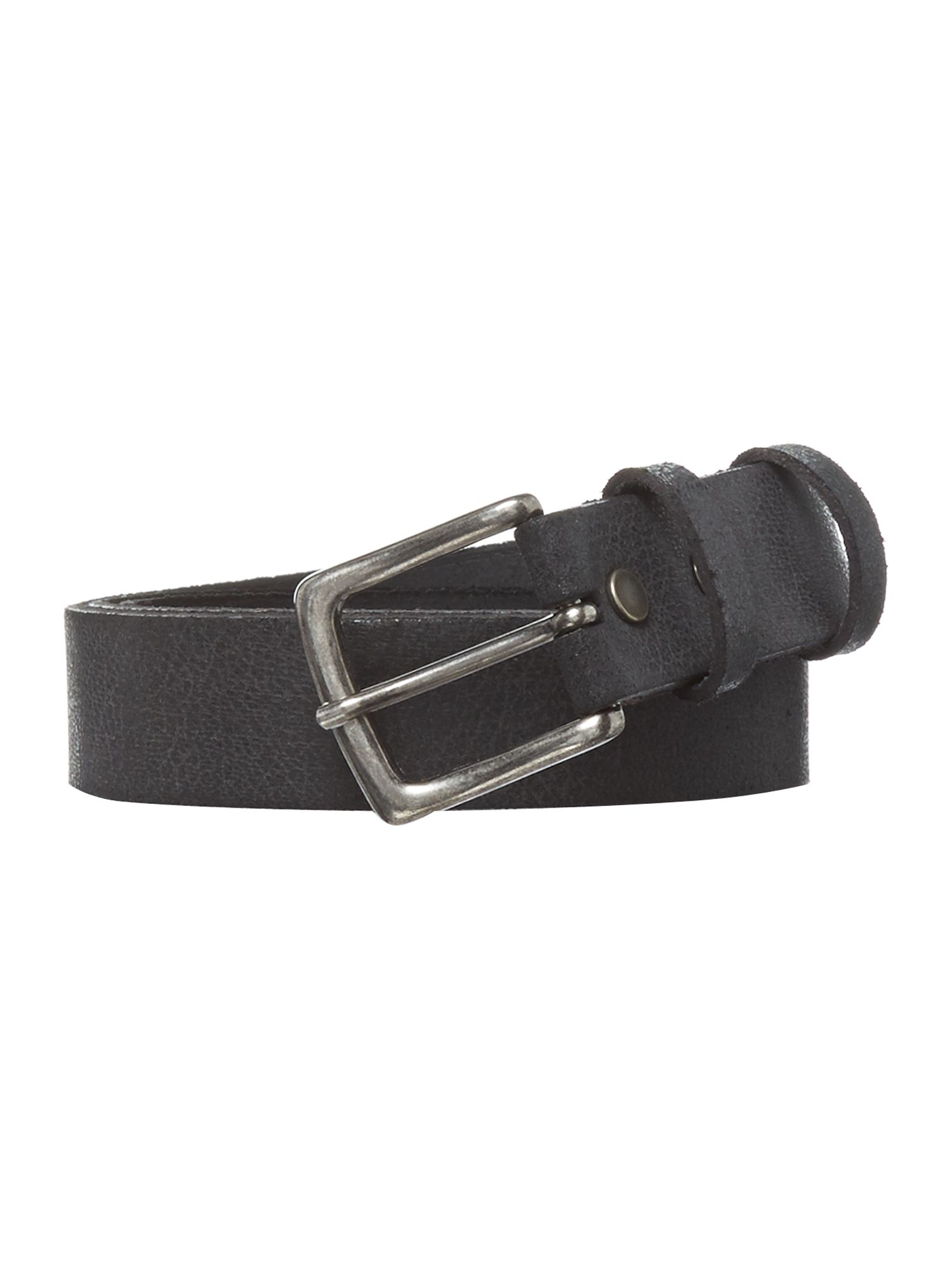 Leather distressed belt