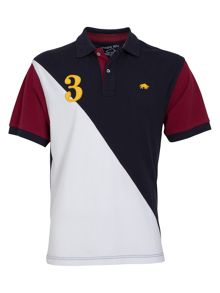 Raging Bull Big and tall 2 tone polo white/navy
