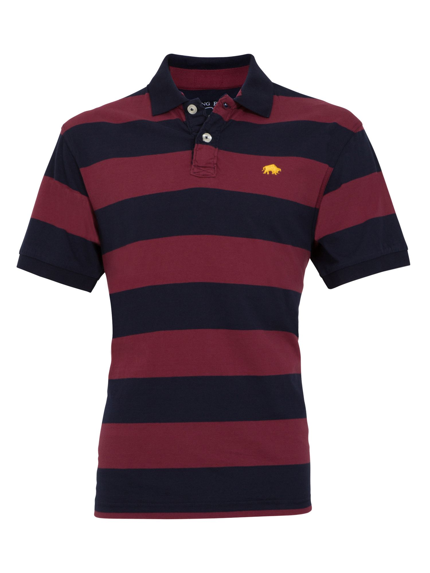 Big and tall medium stripe polo claret