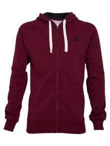 Big and tall emblem hoody claret