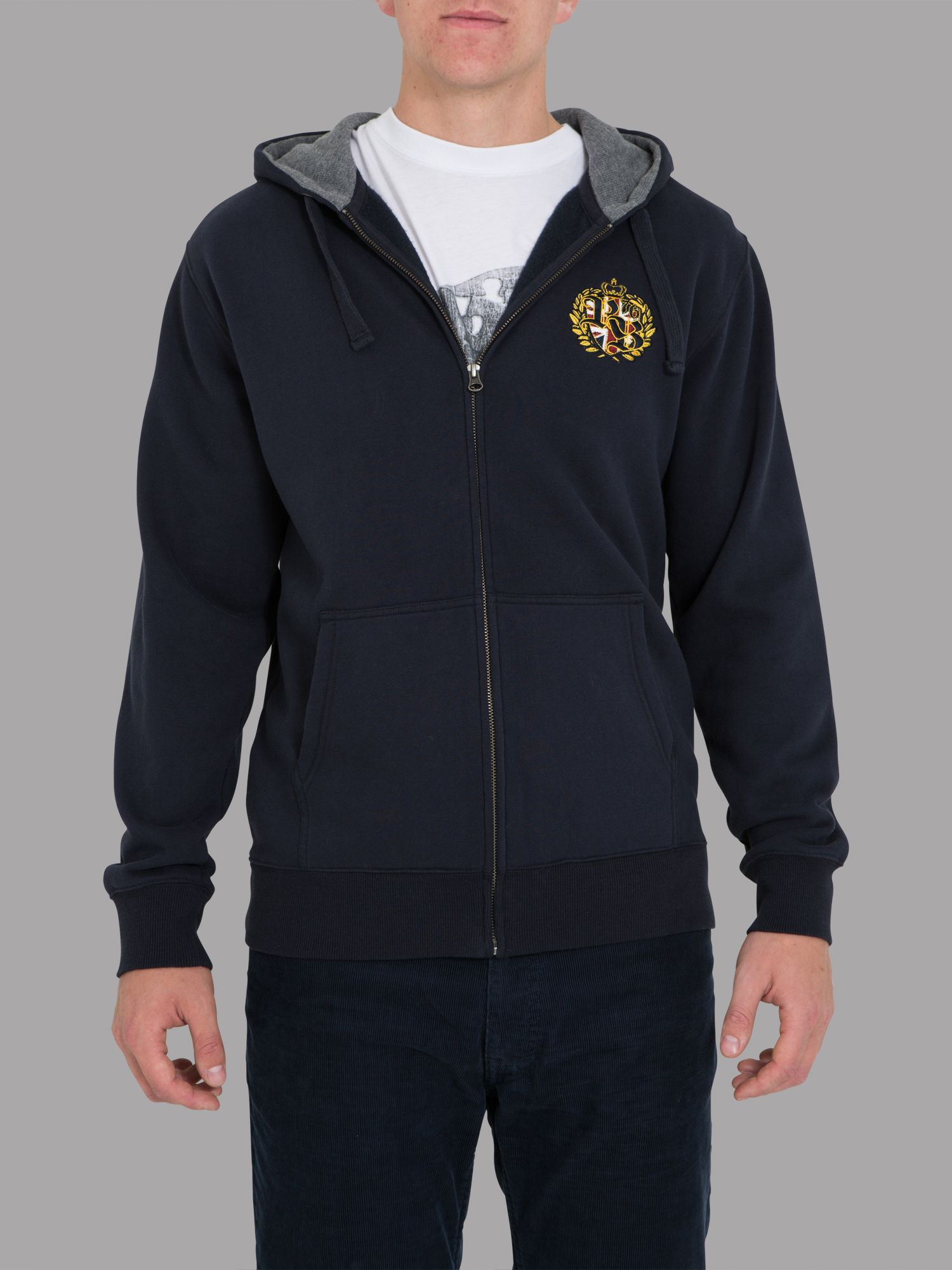 Big and tall emblem hoody navy