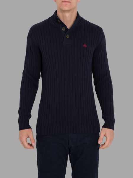 Raging Bull Big and tall funnel neck sweater
