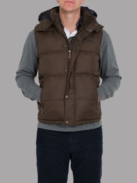 Raging Bull Big and tall hooded gilet brown
