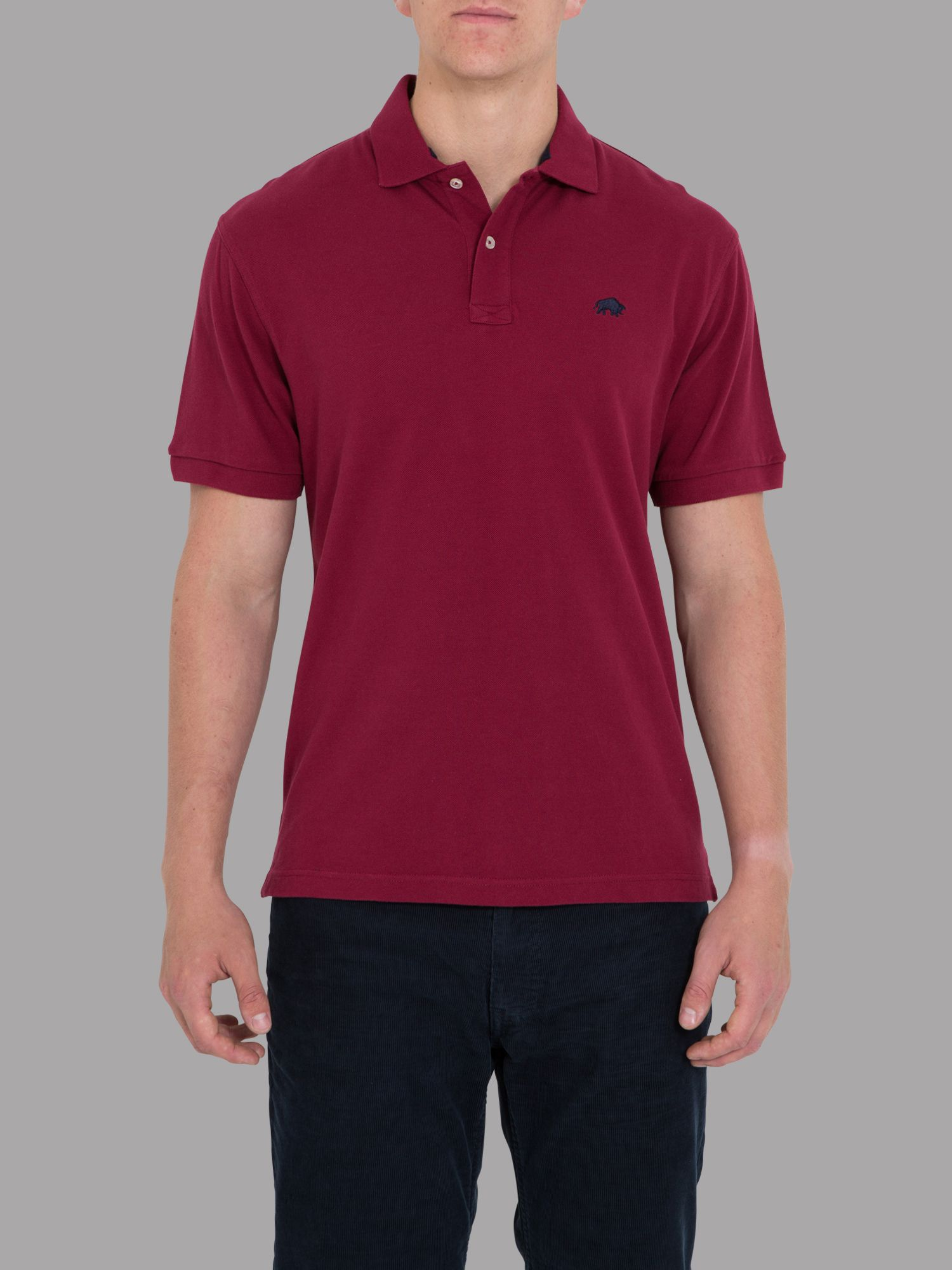Big and tall signature pique polo claret
