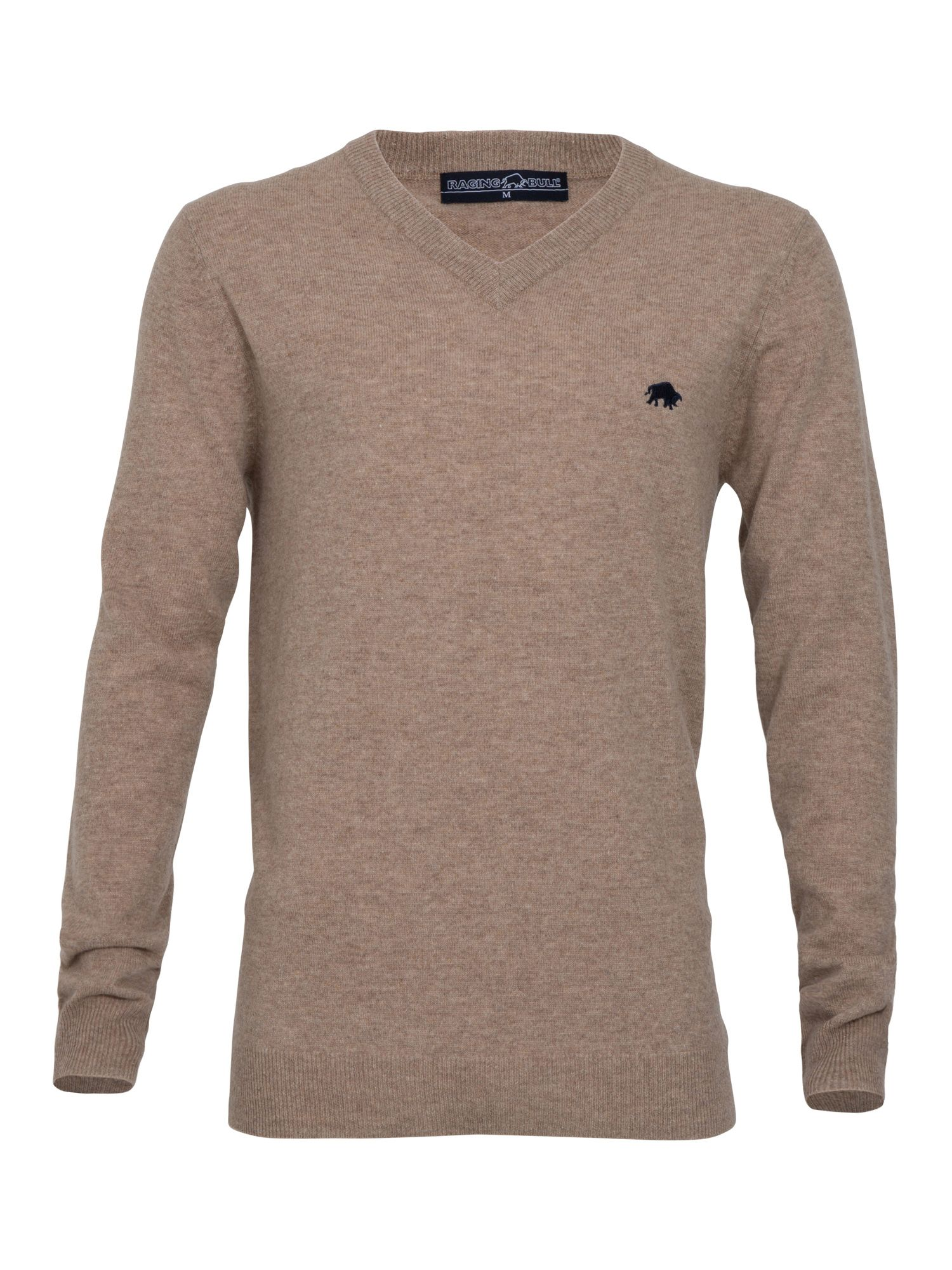Big and tall v-neck sweater oatmeal