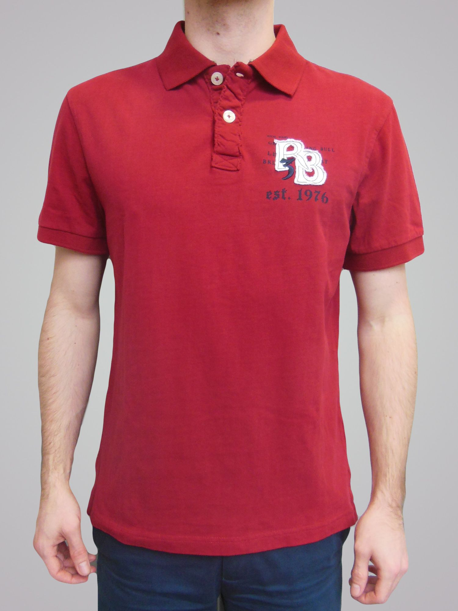 Big and tall rb applique polo