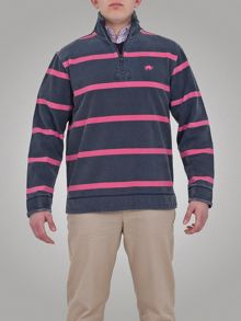 Big and tall thin stripe 1/4 zip top