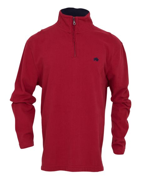 Raging Bull Big and tall peached 1/4 zip top