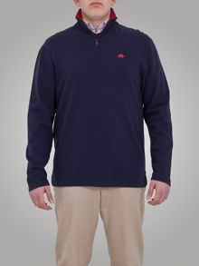 Big and tall peached 1/4 zip top