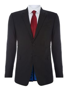 Byard slim fit plain wool suit