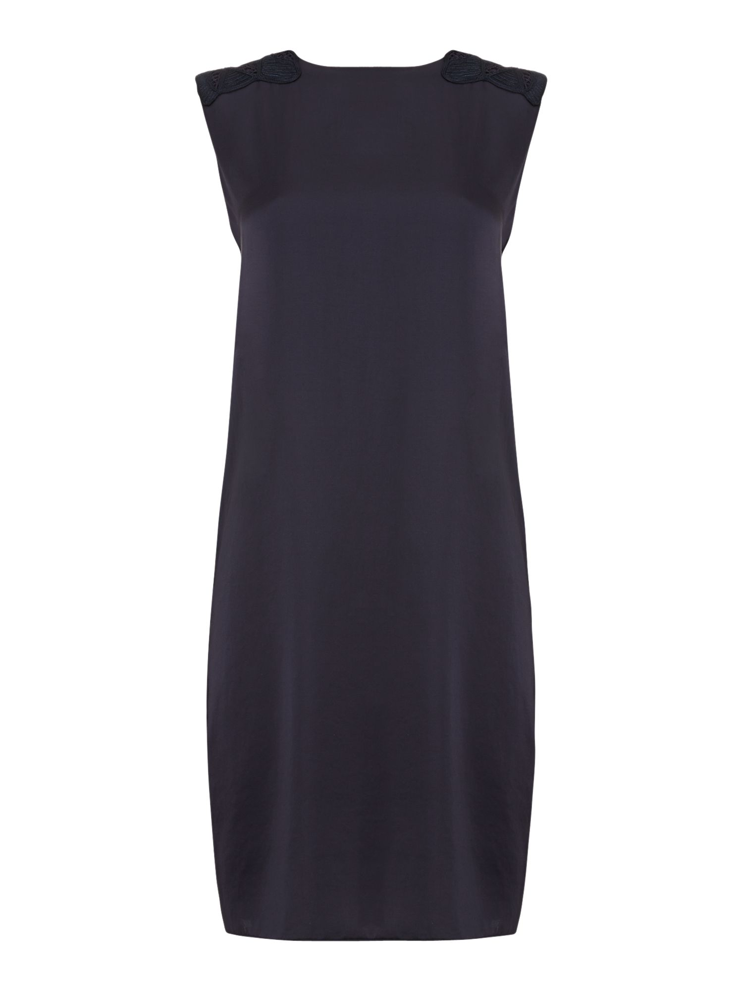 Sleeveless dress with shoulder detail