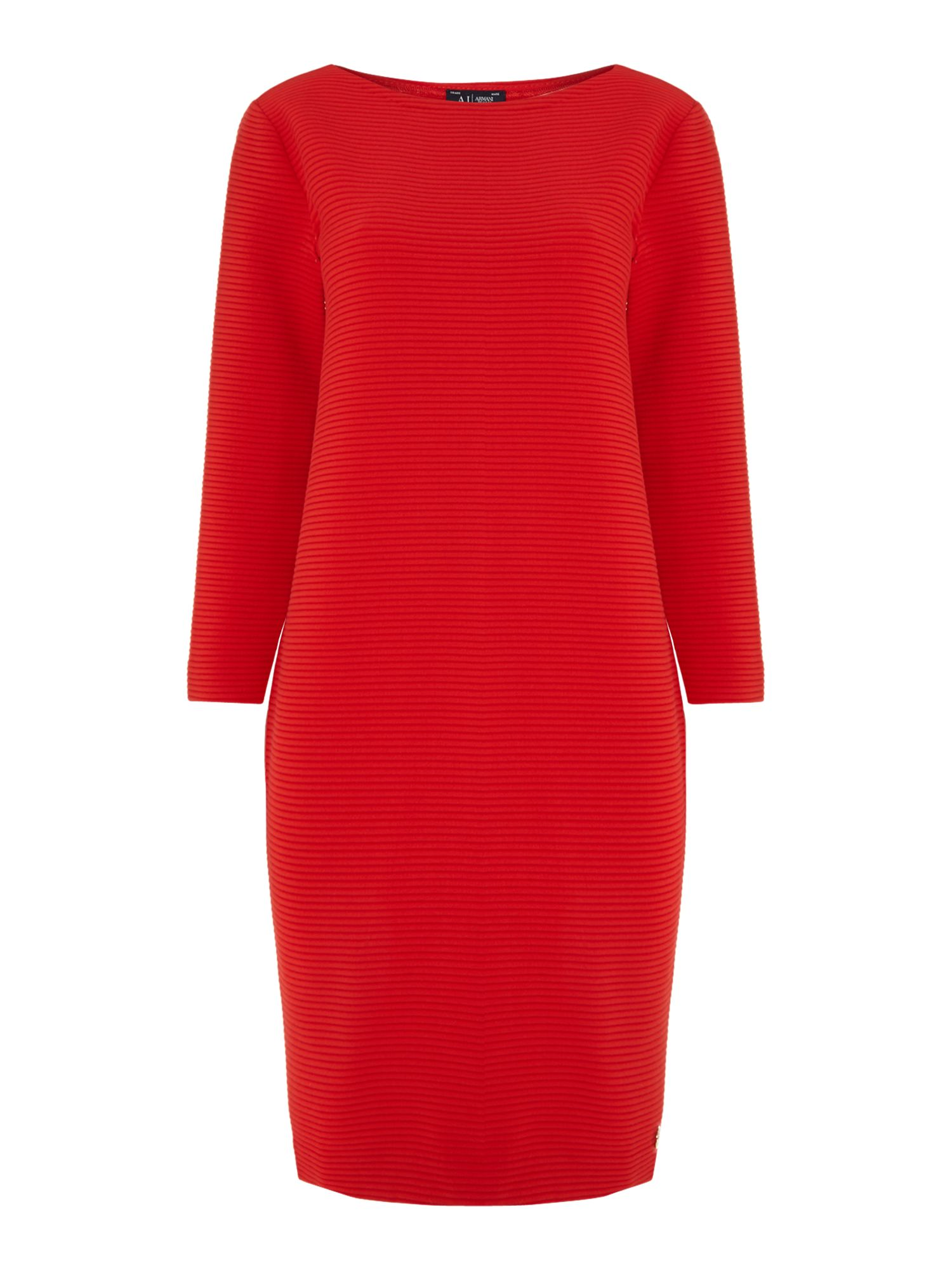 3/4 sleeve ribbed dress