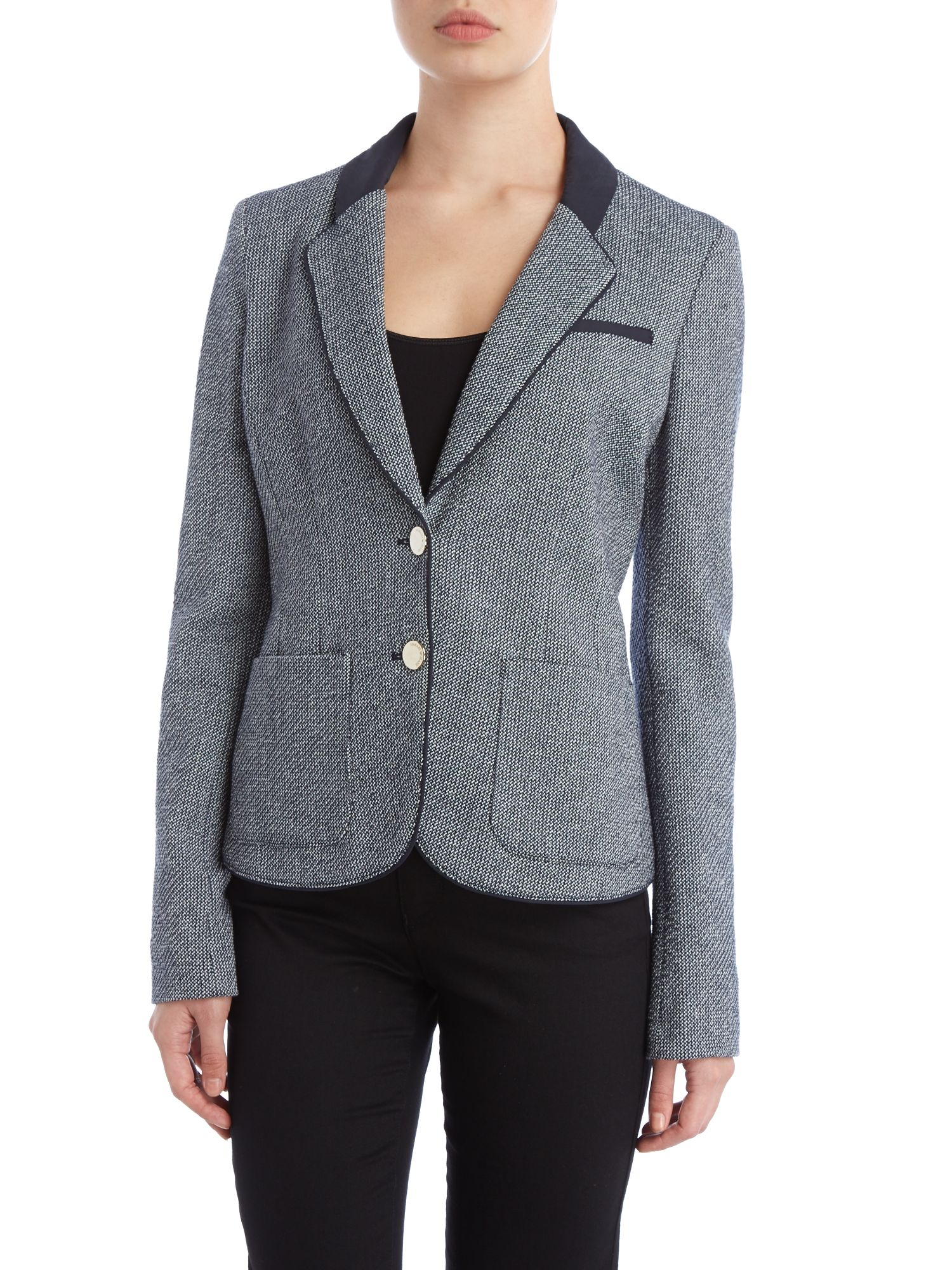 Tweed linen mix blazer