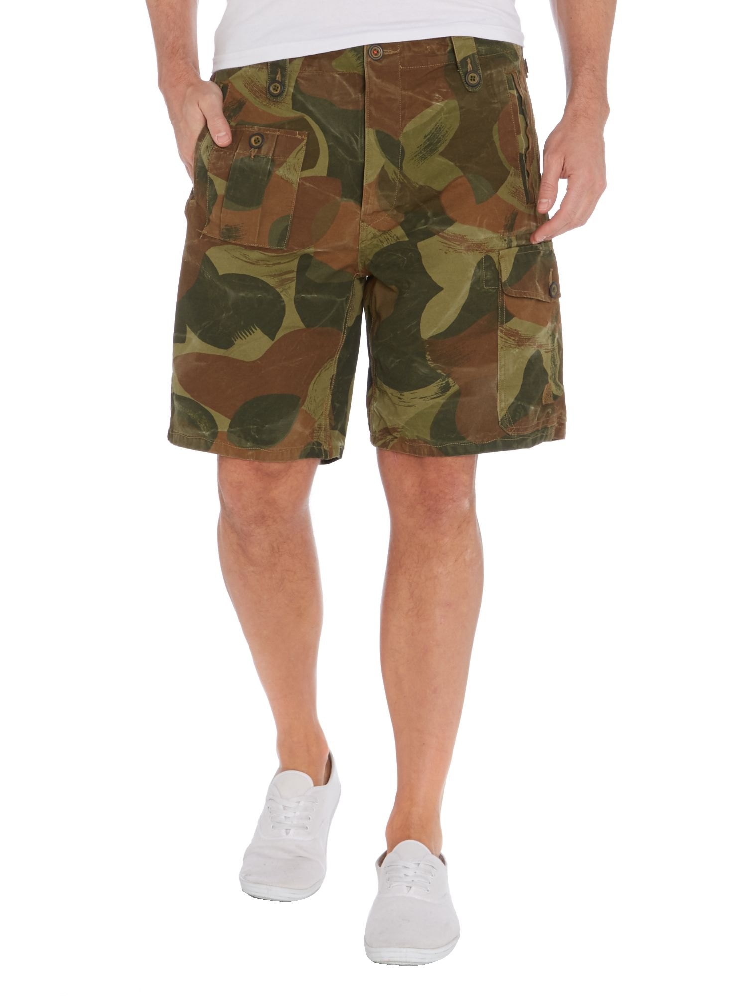 Ranger camo print relaxed fit short