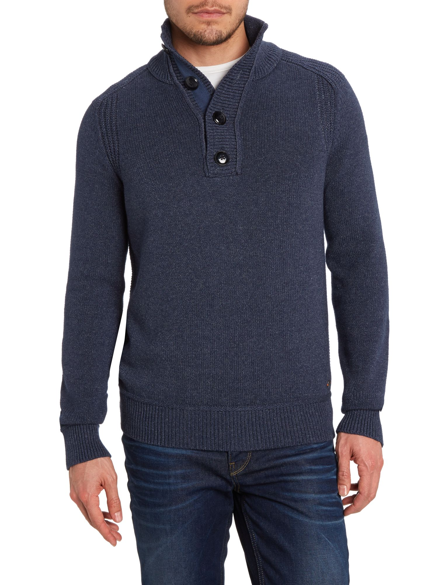 Three quarter length placket jumper