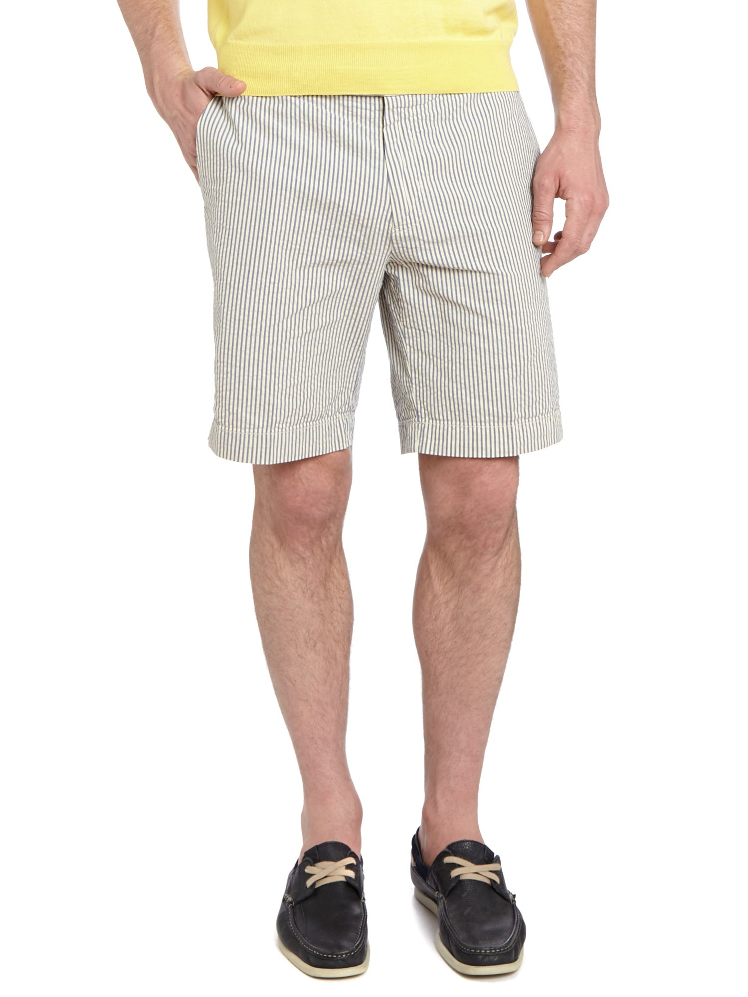 Hudson fine stripe classic fit chino short