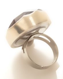 Faceted capis ring