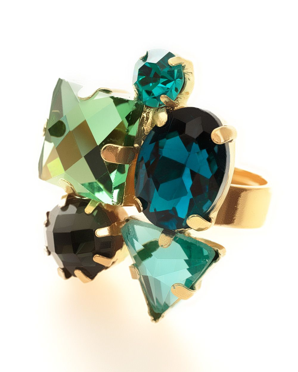 Jewel cluster ring