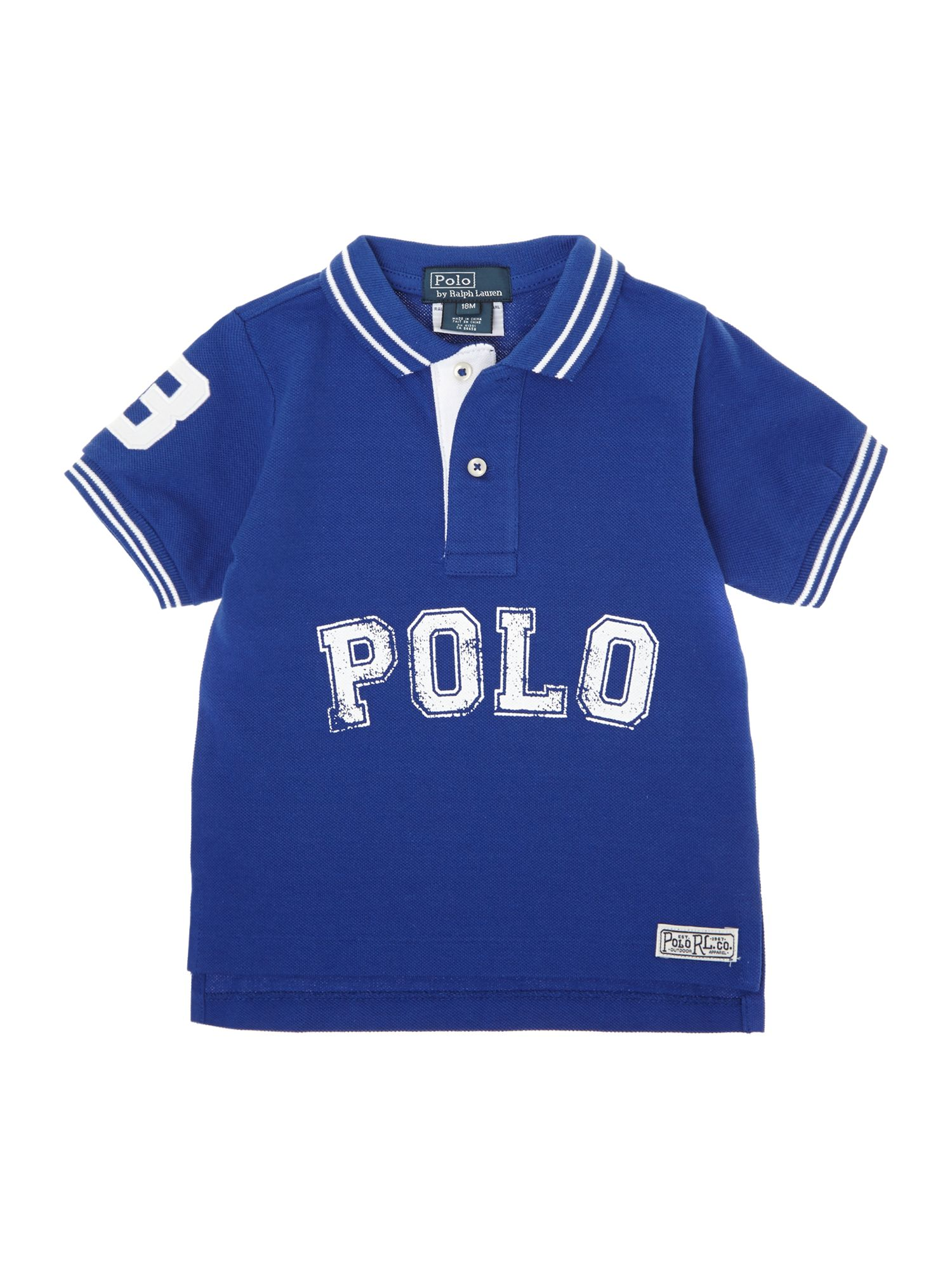 Boy`s large logo polo