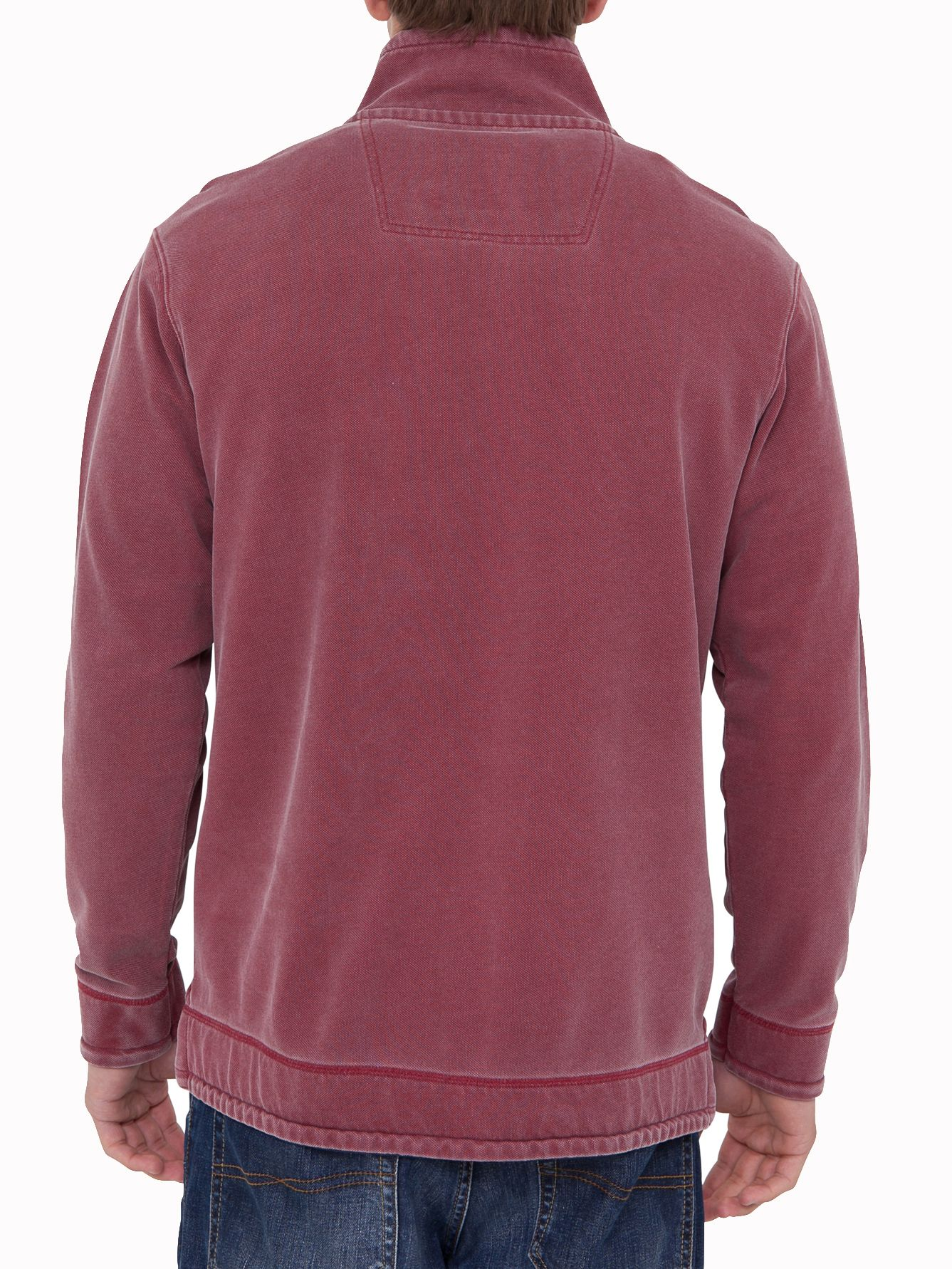 Big and tall plain 1/4 zip top