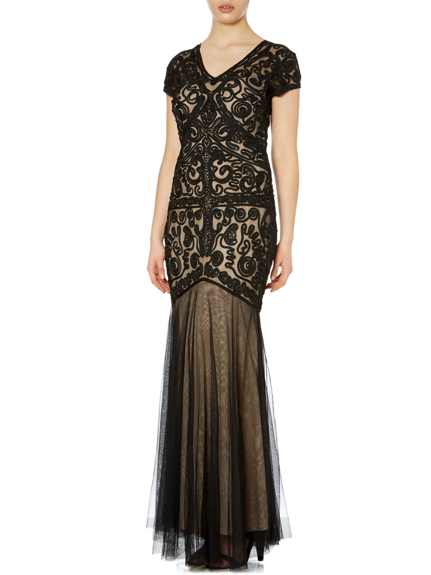 Cornelli Fishtail Embroidered Gown