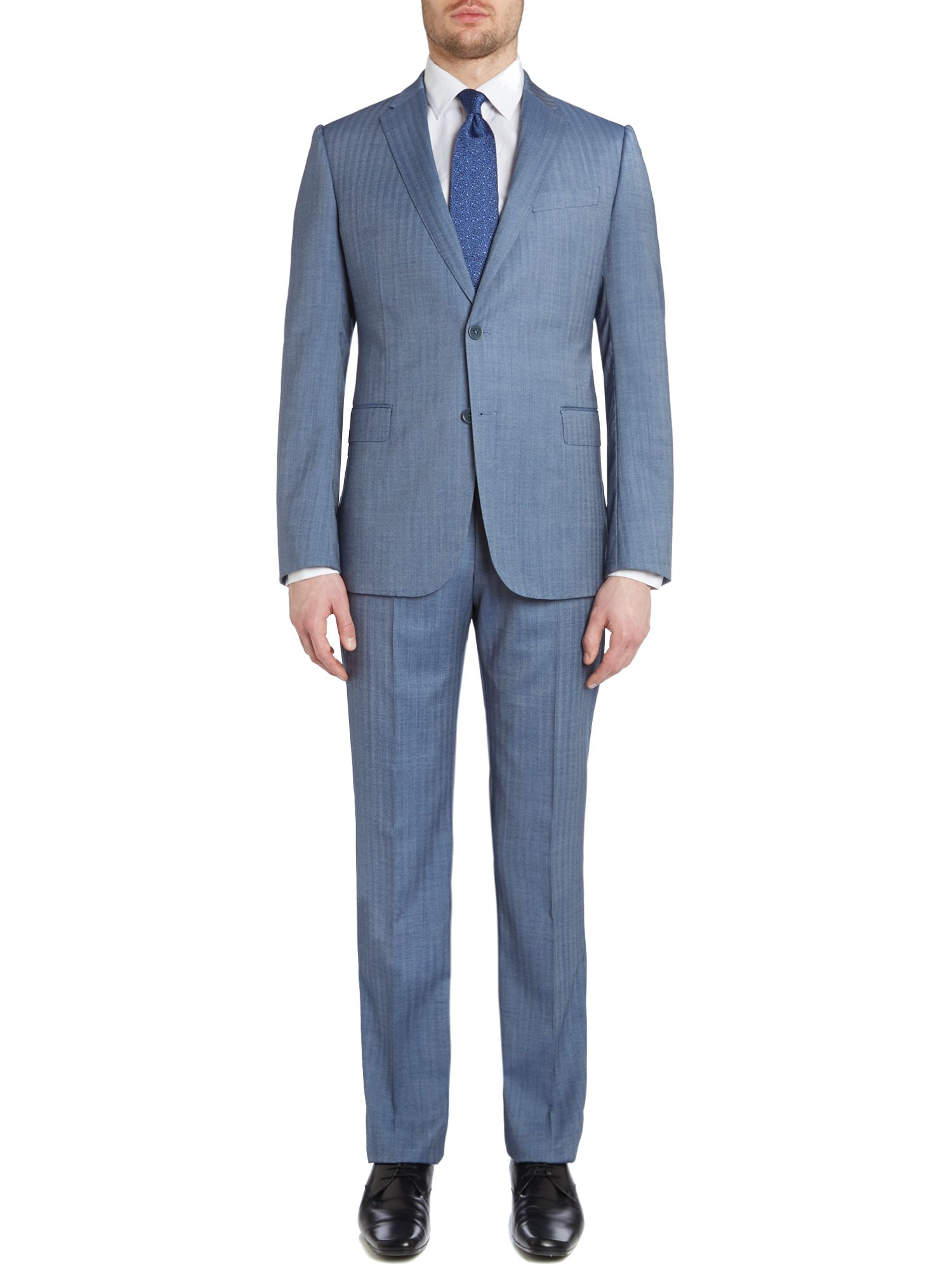 Metropolitan slim fit herringbone suit