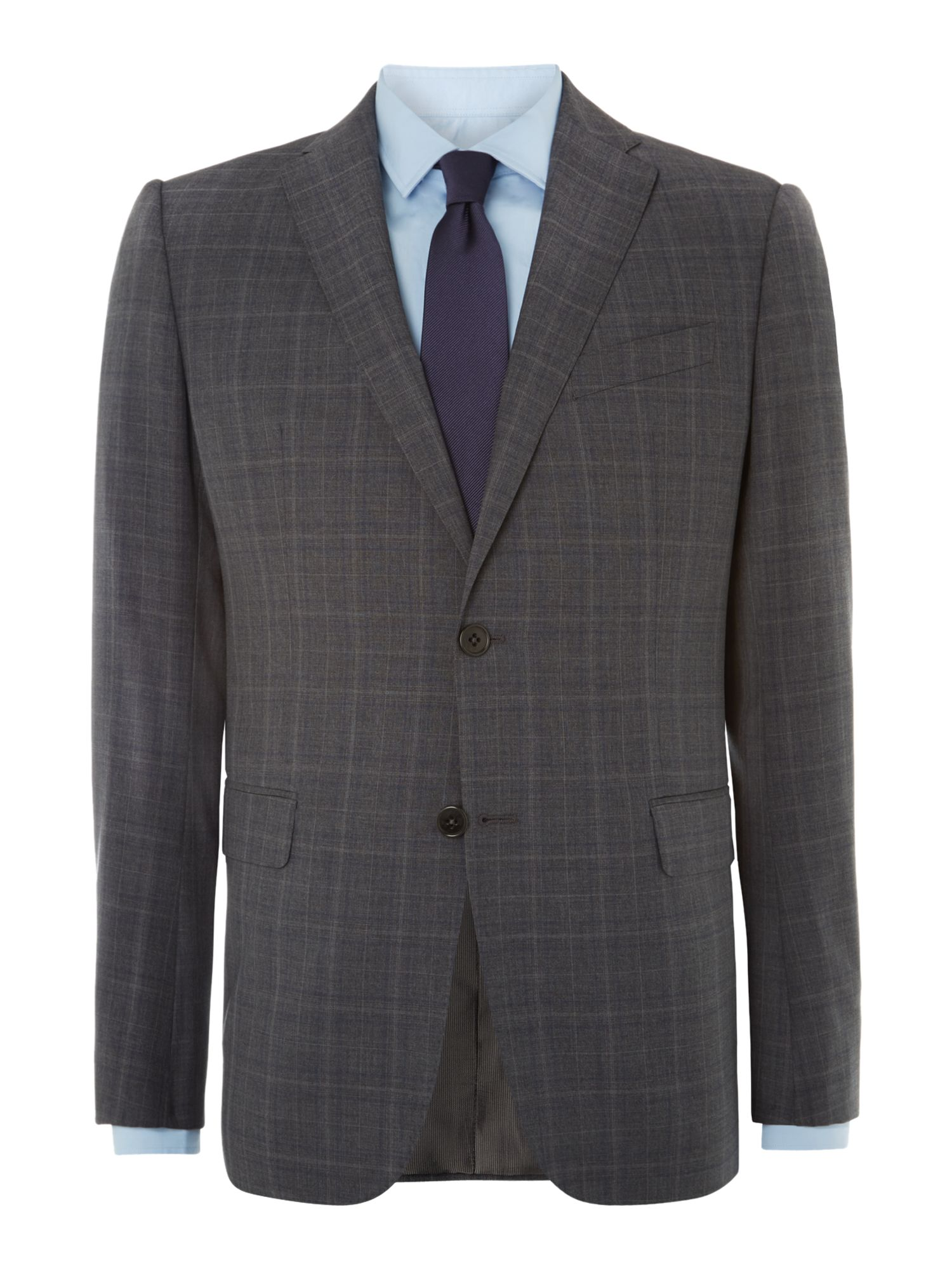 Metropolitan slim fit over check suit