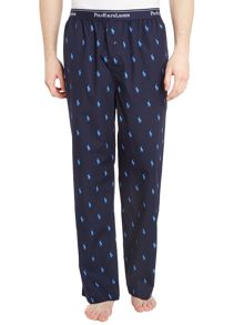 All over logo nightwear pant