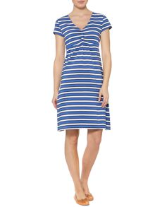 Multi stripe jersey dress