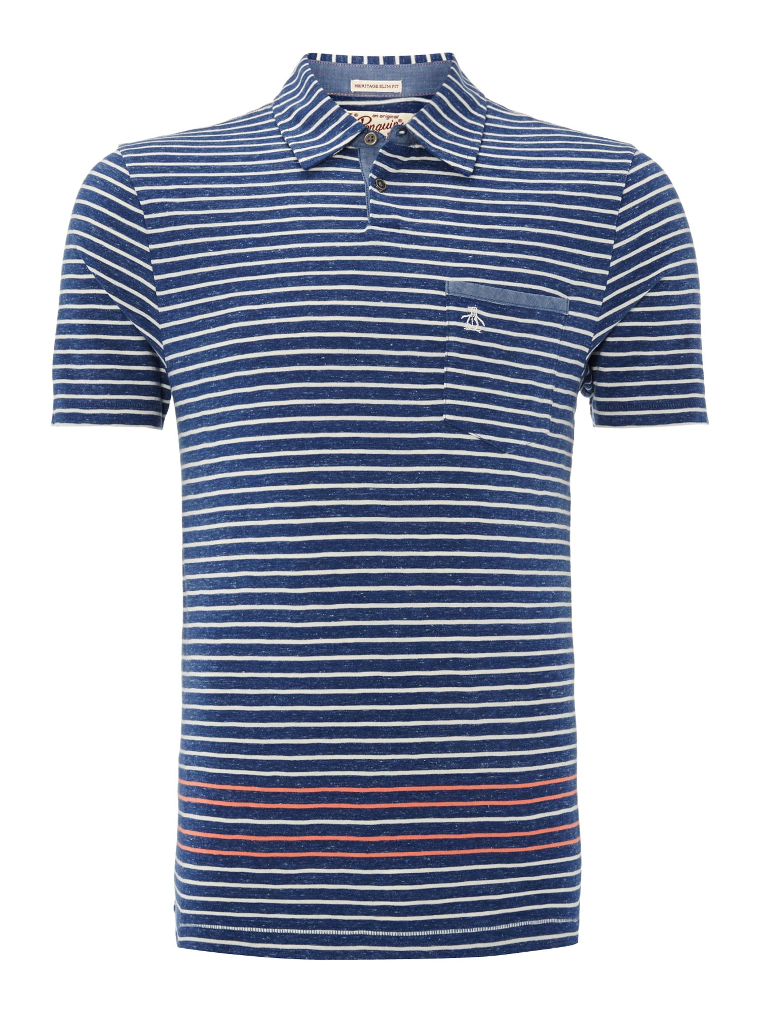 Multi stripe polo shirt