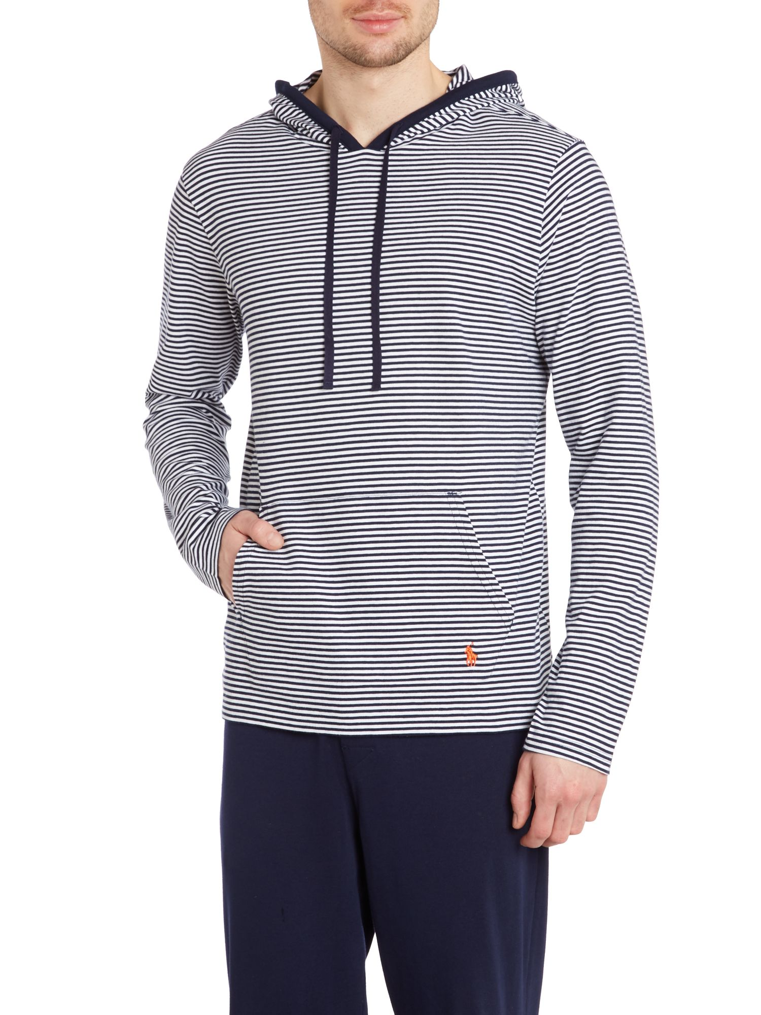 Hooded stripe jumper