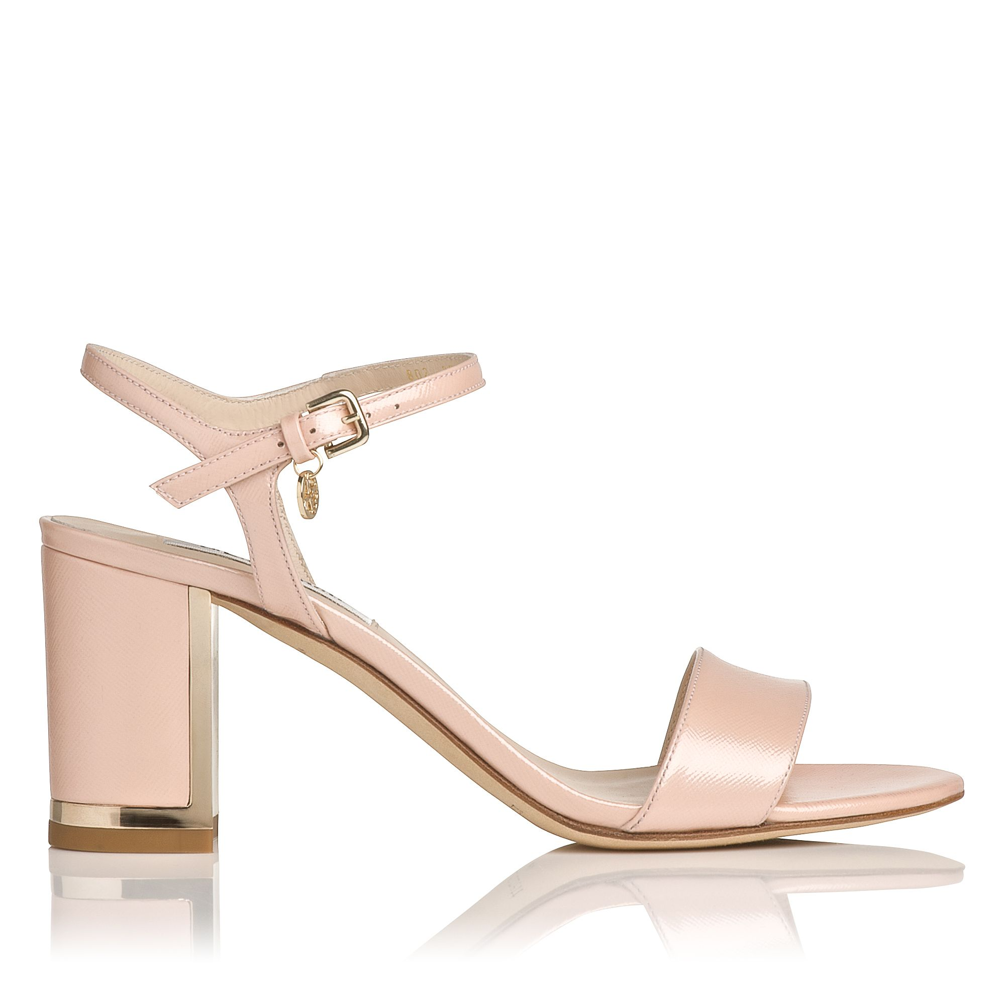Morgan sandal with blocked heel
