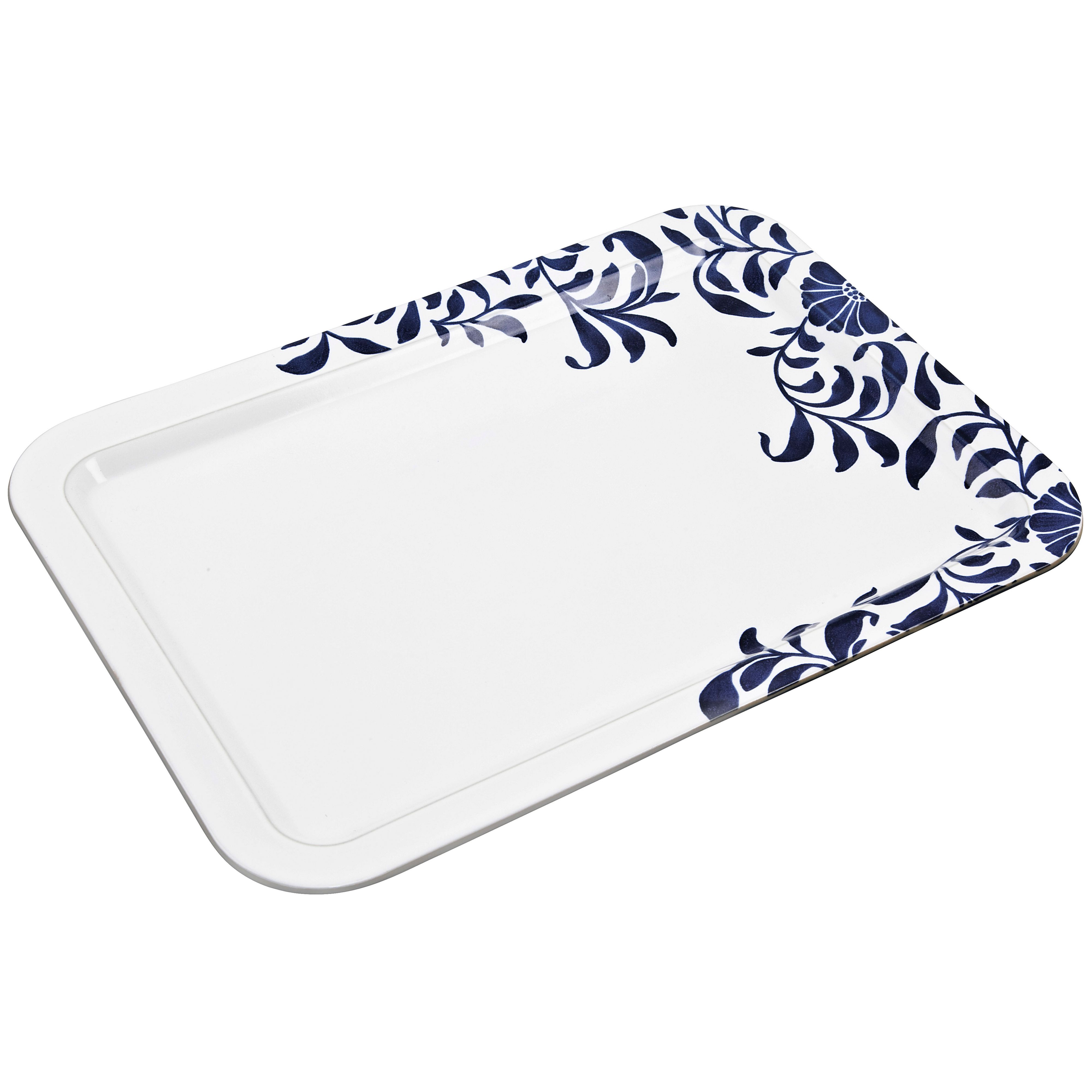 Malmo Bloom large rectangular platter 37 x 26cm